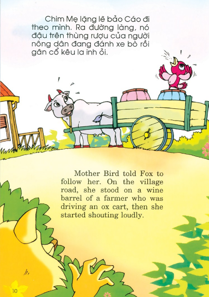 Truyện mưu kế của chim giúp trẻ học tiếng Anh hiệu quả